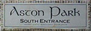 Aston Park Hoa Sign