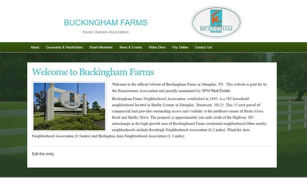 Buckingham farms Website
