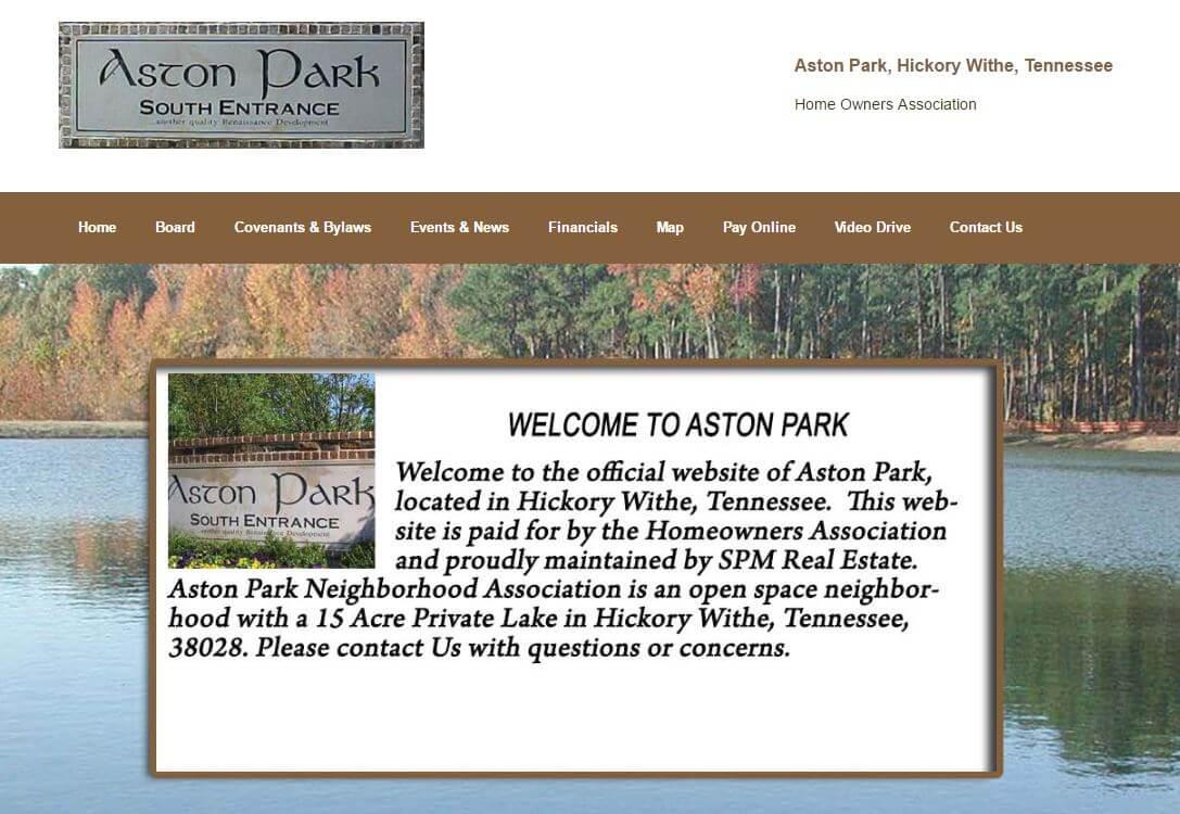 Aston Park HOA Website